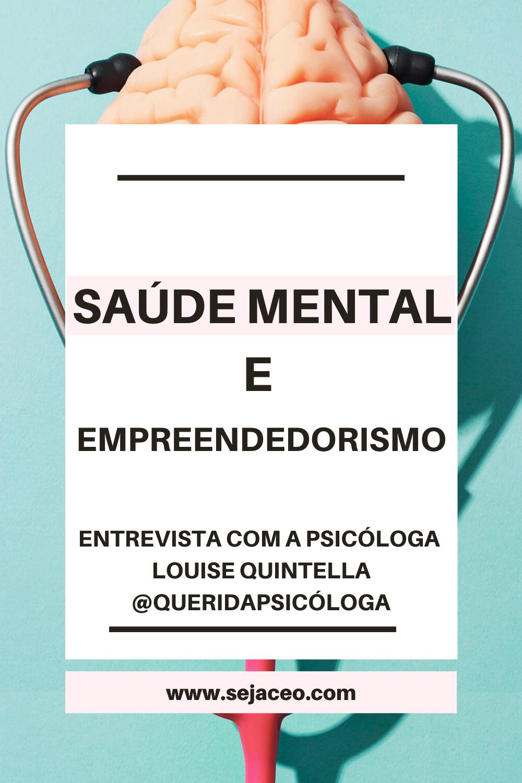 Saúde mental e empreendedorismo
